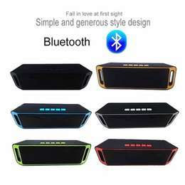 Wholesale Portable Usb Power Bank Australia - Hot Sell Wireless Bluetooth Speaker Outdoor subwoofe Mic Portable sports Speakers Support TF USB MP3 Power Bank