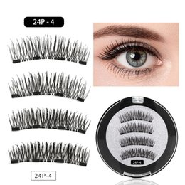 $enCountryForm.capitalKeyWord NZ - Magnetic Eyelashes With 4 Magnets Magnetic Lashes Natural False Eyelashes Magnet Lashes With Gift Round Box