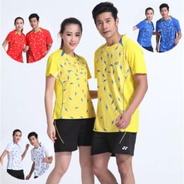 Sportswear T Shirt Badminton Australia - D6 YON EXX Badminton Suit Sportswear for Men and Women Short Sleeve T-shirt for Leisure Running Basketball casual wear Table tennis Y16311