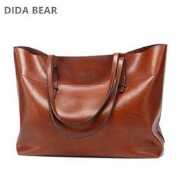 Dark Red Ladies Handbags Australia - Leather Tote Bag Women Handbags Female Designer Large Capacity Leisure Shoulder Bags Fashion Ladies Purses Bolsas