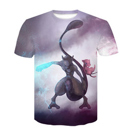 men t shirts 3d graphics NZ - Mew and Mewtwo T-shirts Men Women 3D Shirt New Fashion Hip Hop Streetwear Graphic Tops Casual Tee Shirt Ypf344