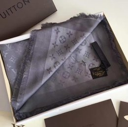 Wholesale Good quality Scarf for Women Spring Autumn Fashion Silk cotton Letter scarf Shawl Ladies Scarves Size 140x140cm