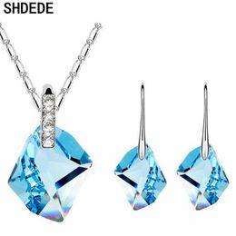 $enCountryForm.capitalKeyWord Canada - wholesale Trendy Accessories Crystal from Swarovski Weddings Jewelry Sets Necklace Earrings Women Fashion Gift -6930