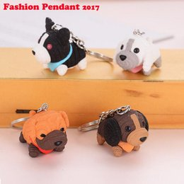 Wholesale Dog Lover Gifts NZ - 2019 Fashion Dog Car Keychain Animal Couple Lovely Keychain Car Keyring Gift For Girl Women And Men Jewelry Mothers Day Bag Charm