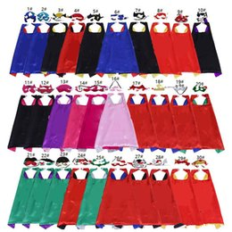 $enCountryForm.capitalKeyWord NZ - Kids Superhero Cosplay Costumes Boys and Girls Capes with Masks Set Party Stage Wear Favor Dress Up Holloween Mardi Gras Carnival Clothes