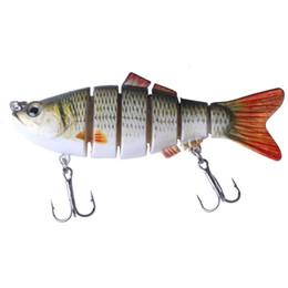 Fishing Lures Segment Australia - HENGJIA 1pcs 10cm 17.5g Wobblers 6 Segments Swimbait Crankbait Fishing Lure Bait 6 Colors Y18101002