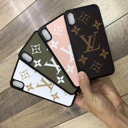 $enCountryForm.capitalKeyWord Australia - 2019 new printed letter green pink white brown mobile phone case for iphone Xs max Xr X 7 7plus 8 8plus 6 6plus hard back cover