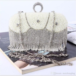 $enCountryForm.capitalKeyWord Australia - Nice New Euramerican Handmade Luxury Diamond Satin Pearl Evening Bag For Women Bridal Wedding Party Green Clutch Evening Bag