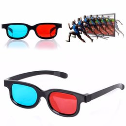 Blue movie dvd online shopping - 2pcs Pack Universal Adult Unisex D Passive Anaglyph Glasses Red Blue D Glasses for Pictures Movies Games DVD Vision