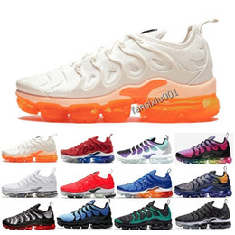 huge selection of adc24 4e644 New 2019 Vapors Olive Mens Sports Sneakers Plus Men Run Metallic Pack  Triple TN Black White Maxes Silver Running Shoes EUR 36-45