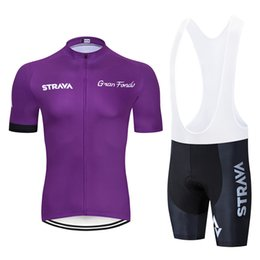Wholesale Factory Direct Sales New strava team summer men cycling Jersey sets breathable mtb bike clothing racing bicycle sports suit Y022201