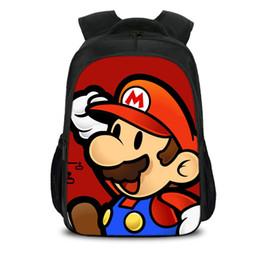$enCountryForm.capitalKeyWord Australia - Mario Backpacks Baby Cartoon Anime 3D Printing School Bag Kids Boys Girls Teenager Bagpack Mochila Box Preschool Book bag for birthday gifts