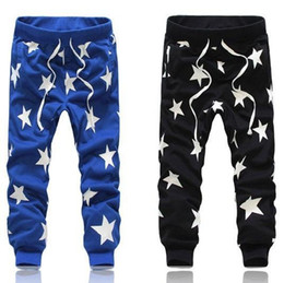 Mens eMoji jogger pant online shopping - New Fashion Harem pants mens full length emoji jogger pants Men Cotton print star harajuku jogger pants JA079