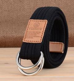 $enCountryForm.capitalKeyWord Australia - Men Women Unisex Plain Webbing Cotton Canvas Metal Buckle Belt High Quality Belts Male Luxury Casual Straps Ceintures