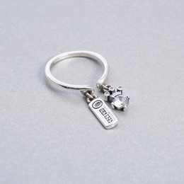 $enCountryForm.capitalKeyWord Australia - Queen's crown ring s925 sterling silver flexible charm silver opening single ring retro letter inlaid pave with crystal fashion
