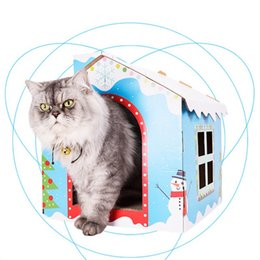 $enCountryForm.capitalKeyWord Australia - Christmas Cat Home Pet Cat Cave House Kitten Bed Cama Para Cachorro Soft Winter Warm Dogs Kennel Nest Dog Bed Product