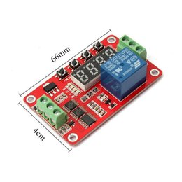 Time delay locks online shopping - High Quality Newest V DC Multifunction Self lock Relay PLC Cycle Timer Module Delay Time Switch freeshipping