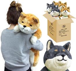 $enCountryForm.capitalKeyWord Australia - Japan Anime Shiba Inu Plush Dog Toy Giant Animals Dog Doll Akita Toys Strips Nap Pillow for Children Friend 80cm 31inch