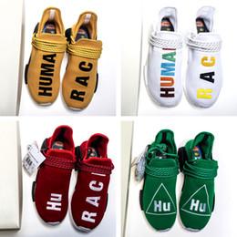 the best attitude 695ba 60e46 Los zapatos de la raza humana PW se están vendiendo, compre en Pharrell  Williams Hu Trail, raza humana, zapatillas de deporte exclusivas de Nerd,  colorido, ...