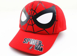 baby boy cap spring UK - Children Spider-Man Hat Baby Spring Outdoor Cap Boys Summer Sunshade Baseball Cap