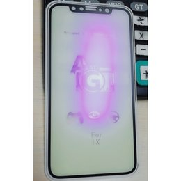 Wholesale 2019 New For Apple Electroplated Phone Frosted Film Frosted Purple Film Tempered Glass Back Cover Fashion Protector For iPhone