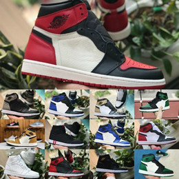 431d2e061a50cc Hot Sale 2019 New 1 Mid TOP 3 High OG Basketball Shoes Cheap Game Royal  Banned Shadow Bred Red Blue Toe Shoe Men Women 1s Shattered Sneakers