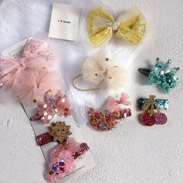 korean children hair style NZ - 2020 New Korean Style Children Cute Hair Clips Spring Pink Lace Bow Hairball Fruit Hair Pins for Girl Fashion Accessories