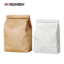 $enCountryForm.capitalKeyWord Australia - 100PCS Brown White Thickened Disposable Food Kraft Paper Bag Bread Fruit Gift Packaging Bag