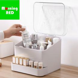 $enCountryForm.capitalKeyWord NZ - New Shipping Cosmetic Plastic Storage Box Dust Cover Desktop Household Lipstick Rack Mask Organizer Jewelry Holder