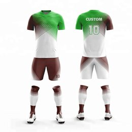 Men Short Sets Polyester Australia - New Men Boys Cool Colors Design Short Sleeve Football Jerseys Training Soccer Sets Custom Football Jersey Sports Uniform Jersey