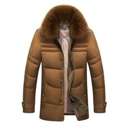 $enCountryForm.capitalKeyWord NZ - Winter Jacket Men Solid High Quality Jackets Mens White Duck Down Coat Parkas With Real Fox Fur Hood