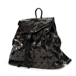 Ingrosso New Bao Zaino Donna Borsa a spalla geometrica Borsa da studio per studenti Ologramma zaino Laser argento zaino mochilas Con Logo # 316984