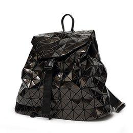 Toptan satış Yeni Bao Sırt Çantaları Kadın Geometrik Omuz Çantası öğrencinin Okul Çantası Hologram sırt çantası Lazer gümüş sırt çantası mochilas Ile Logo # 316984