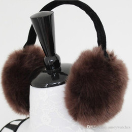 wool ear muffs Canada - Solid Ear muffs warm ladies ear cover for warm men for soft winter cuteness for women free shipping