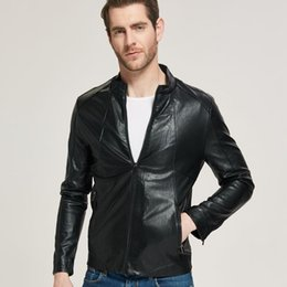 $enCountryForm.capitalKeyWord Australia - Mens Bikers Motorcycle Leather Jacket PU Leather Coats Windbreakers Jackets Outerwear Korean Tops Free Shipping S-3XL