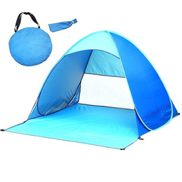 Pop Up Beach Shade Australia - Outdoor Beach Anti-UV Fully Sun Shade Tent Ultralight Folding Tent Pop Up Automatic Open Family Tourist Fish Camping