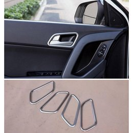 $enCountryForm.capitalKeyWord Australia - ABS Chrome Inner Door Handle Cover Trim Car Styling Cover For Hyundai Creta ix25 2014-2017