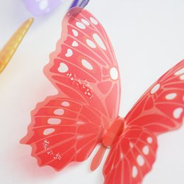 $enCountryForm.capitalKeyWord Australia - 3d Effect Crystal Butterflies Wall Sticker Beautiful Butterfly for Kids Room Wall Decals Home Decoration On the Wall