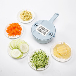 carrot cutter NZ - Multifunctional Vegetable Cutter with Steel Blade Potato Peeler Slicer Carrot Cheese Grater Vegetable Slicer Kitchen Accessories