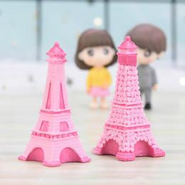 2019 Eiffel Tower Resin Craft Miniature Fairy Garden Desktop Room Decorazione Micro Paesaggio Accessorio Cactus Fioriera Regalo Novità articoli