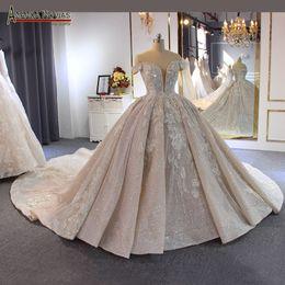 $enCountryForm.capitalKeyWord NZ - Luxury Beading Wedding Dress Off Shoulder Long Train 2019 New Bridal Dress Novias Y19072901