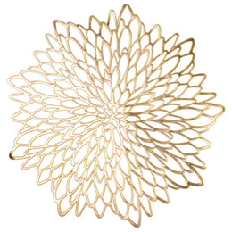 $enCountryForm.capitalKeyWord UK - 10 Pack Pressed Vinyl Metallic Placemats Charger Wedding Accent Centerpiece --Flower