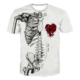 Top 3d movies online shopping - Skeleton Heart Skull D Printed T Shirt Men Women Halloween IT Clown Horror Movie Casual T Shirt Streetwear Funny T Shirt Tops
