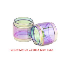 Twist Bulbs UK - Wholesale Twisted Messes 24 RDTA Expansion Bubble Rainbow Glass DHL Free Buy Cheap Twisted Messes 24 RDTA Extended Fatboy Bulb Version