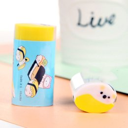 $enCountryForm.capitalKeyWord Australia - Cartoon Sushi Eraser Creative Rice Ball Modelling Student Stationery One Piece Plastic Packaging Cute Correction Supplies