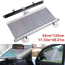 uv sun block Australia - Auto Retractable Car Windshield Sun Shade Curtain Anti-UV Block Sun Visor Silver
