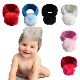 Wholesalers Selling Bows Australia - New Hot-selling Baby Bohemian Hair Belt with big ball cute Girls Head band Children Headwrap infant Head wrap Hairband