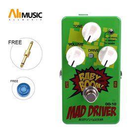 electric guitar overdrive pedal UK - Biyang OD-10 Guitar Bass Effects Pedal Three Models Mad Driver Overdrive