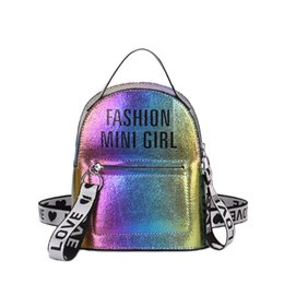 bd0ef44e71 Fashion Letter Backpack Women Zipper Teenager School Mini Backpack Elegant  Women s Pu Leather Backpack Mochilas Mujer 2019