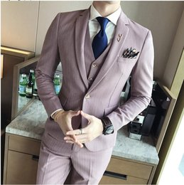 $enCountryForm.capitalKeyWord Australia - Wedding Dress For Men Men's Formal Wear Suits Jackets+Vest+Pants High Quality Suiits Clothing New Male Suit Jackets Size CY08